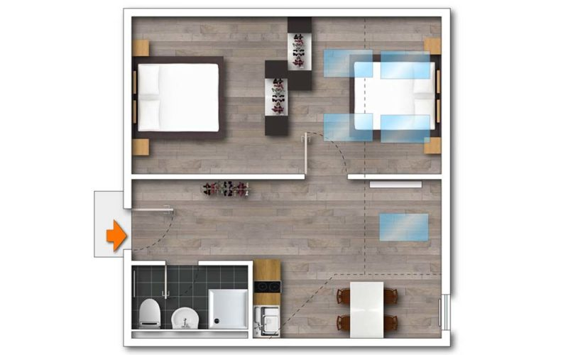 Grundriss Apartment+