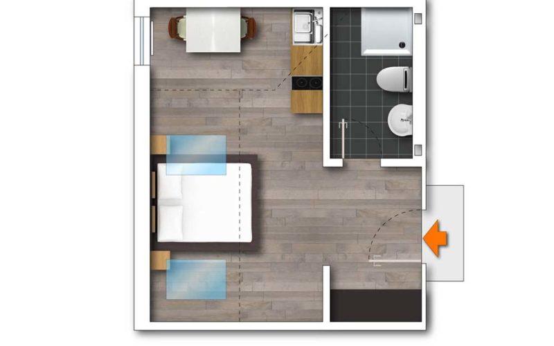 Grundriss Apartment